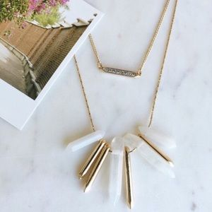 Stella and Dot Rebel cluster necklace